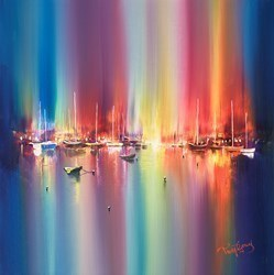 Harbour Evenings II by Philip Gray -  sized 20x20 inches. Available from Whitewall Galleries